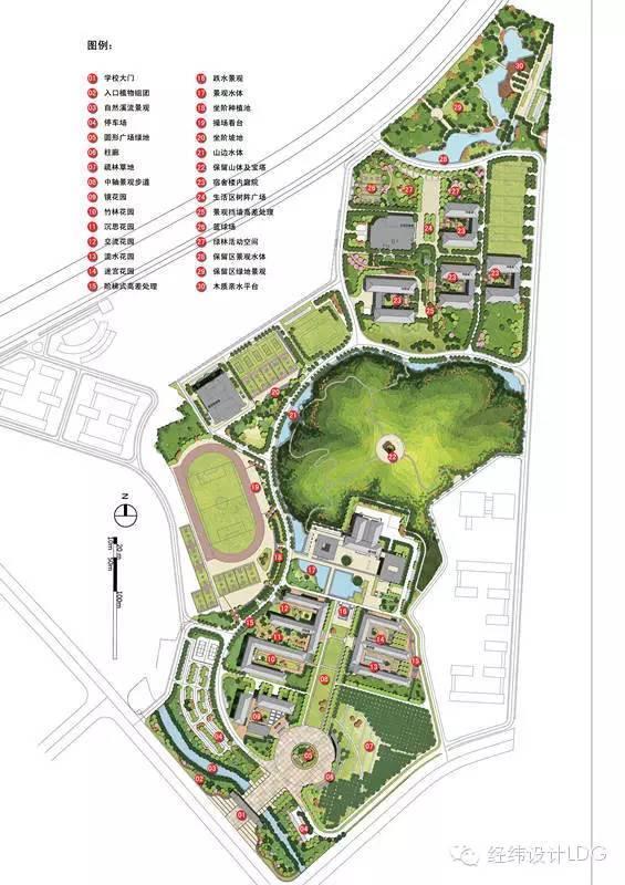 LDG获奖︱九江职业技术学院联系校区一期绿化景观设计
