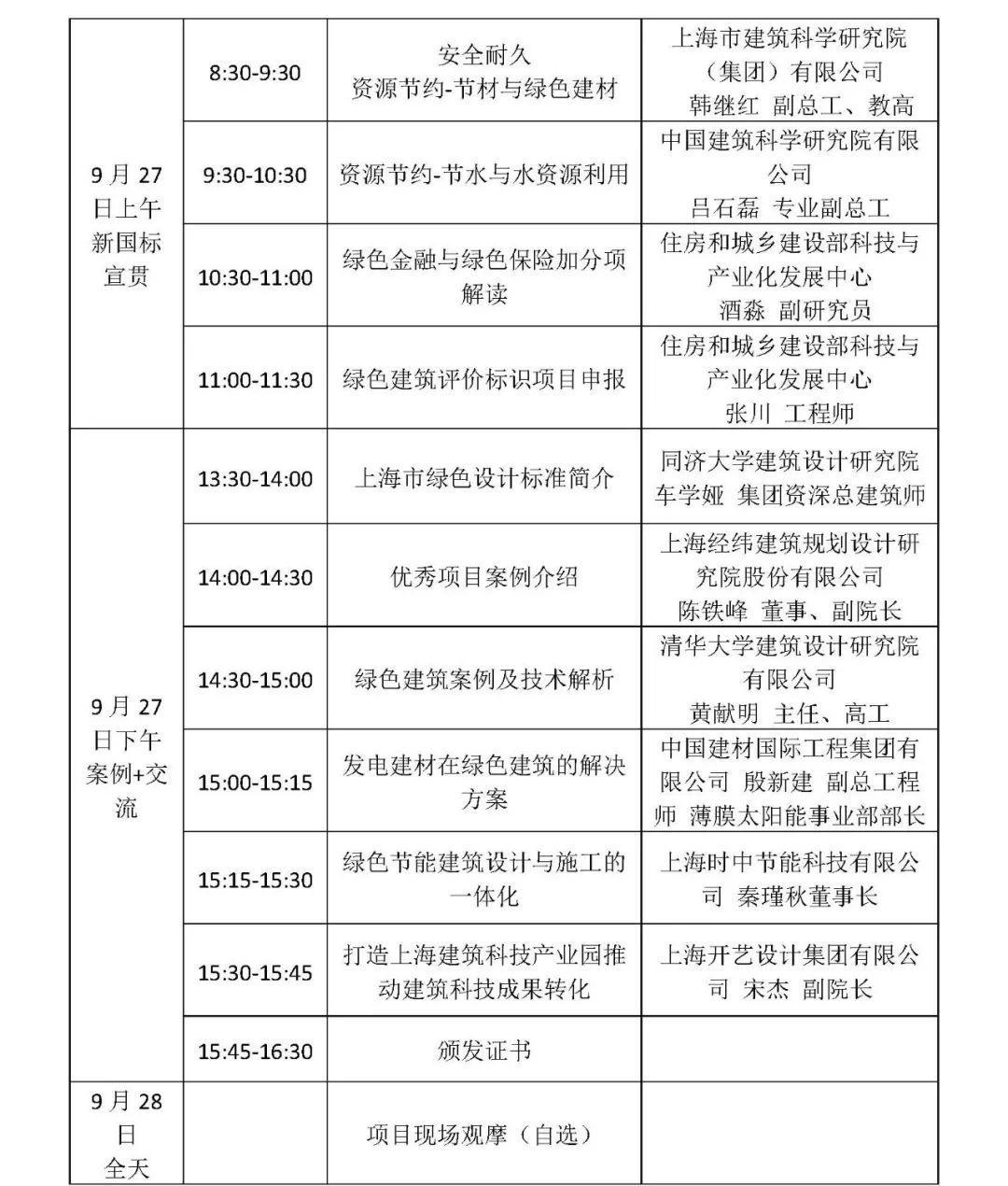 (上海)关于召开国家标准《绿色建筑评价标准》(GB/T 50378-2019)长三角地区宣贯培训班的通知